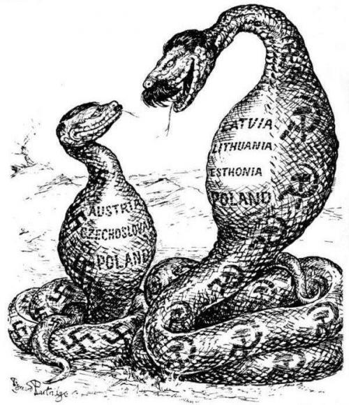 """Die """"Wiedervereinigung"""" der ukrainischen Gebiete im Mutterleib eines Pythons."""