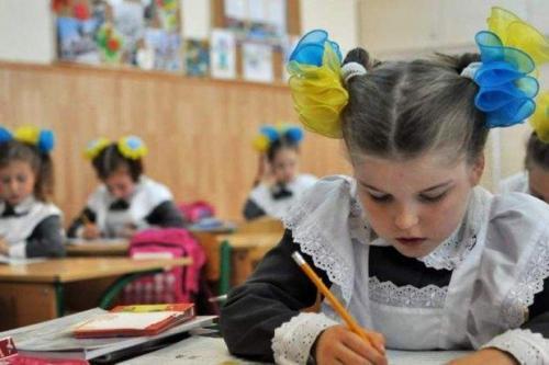 ukrainische Schülerin