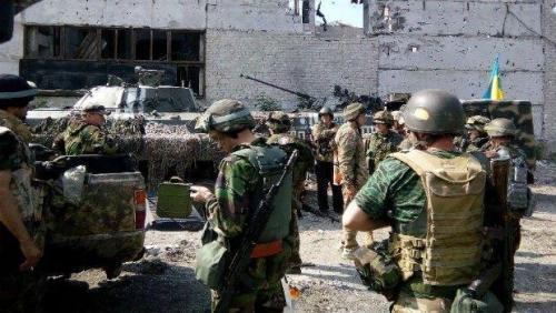 ukrainische Soldaten an der Front