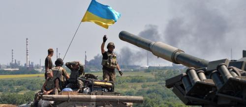ukrainische Soldaten an der Ostfront