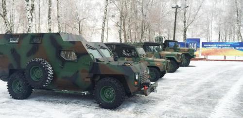 ukrainische gepanzerte Fahrzeuge