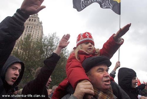 Faschistischer Gruß in Russland